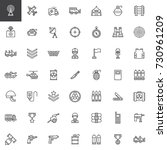 military equipment line icons... | Shutterstock .eps vector #730961209