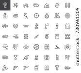 military equipment line icons... | Shutterstock .eps vector #730961209