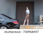 young attractive businesswoman... | Shutterstock . vector #730968457