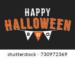 happy halloween boo text icon... | Shutterstock .eps vector #730972369