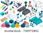 quality isometry  a set of...   Shutterstock .eps vector #730972801
