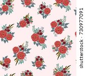 fashion seamless pattern with... | Shutterstock .eps vector #730977091