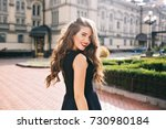 portrait from back of elegant... | Shutterstock . vector #730980184