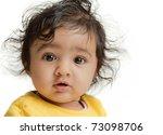 Portrait Of Cute Baby Girl ...