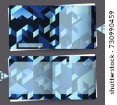 brochure template with abstract ... | Shutterstock . vector #730990459