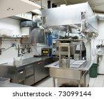 typical kitchen of a restaurant   Shutterstock . vector #73099144