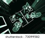 the modern interior of office... | Shutterstock . vector #73099582