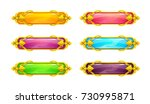 beautiful colorful long... | Shutterstock .eps vector #730995871