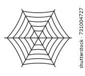 halloween spiderweb boo text...   Shutterstock .eps vector #731004727