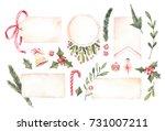 watercolor illustration.... | Shutterstock . vector #731007211