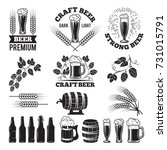 beer pub labels set. logo... | Shutterstock .eps vector #731015791