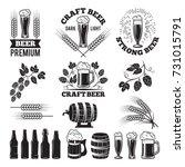 beer pub labels set. logo... | Shutterstock .eps vector #731015791