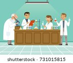 professional chemists in their... | Shutterstock .eps vector #731015815