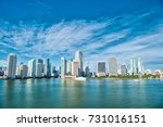 miami skyline skyscrapers ... | Shutterstock . vector #731016151
