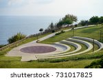lara city park with blue sky... | Shutterstock . vector #731017825