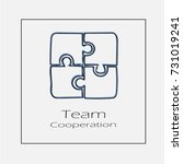 puzzle team concept vector icon ... | Shutterstock .eps vector #731019241