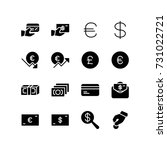 miscellaneous icons of wealth... | Shutterstock .eps vector #731022721