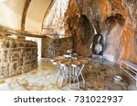 ancient place in mountains... | Shutterstock . vector #731022937