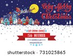 christmas party invitationcard...   Shutterstock .eps vector #731025865