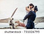 young handsome man pilot in...   Shutterstock . vector #731026795