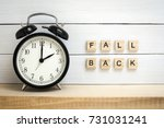 Small photo of Daylight Saving Time / Fall Back Wooden Letters