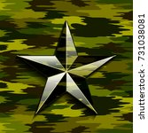 military camouflage star | Shutterstock . vector #731038081