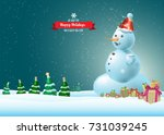 happy holidays  new year banner ... | Shutterstock .eps vector #731039245