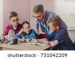 stem education. kids creating... | Shutterstock . vector #731042209