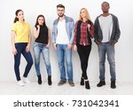 friends meeting on white... | Shutterstock . vector #731042341