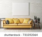 Mock Up Poster With Yellow Sofa ...