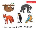 zoo animals vector icon logo... | Shutterstock .eps vector #731052169