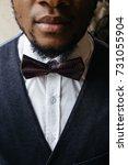 portrait of handsome african... | Shutterstock . vector #731055904