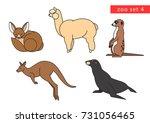 zoo animals vector icon logo... | Shutterstock .eps vector #731056465