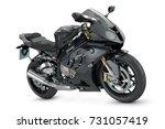 black sport motorcycle   Shutterstock . vector #731057419