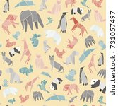seamless vector pattern of... | Shutterstock .eps vector #731057497