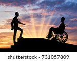 a disabled person in a... | Shutterstock . vector #731057809