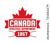a canadian athletics department ... | Shutterstock .eps vector #731061679