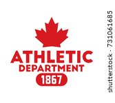 a canadian athletic department... | Shutterstock .eps vector #731061685