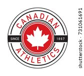 a canadian athletics shirt... | Shutterstock .eps vector #731061691