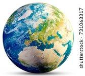 planet earth   europe. elements ... | Shutterstock . vector #731063317
