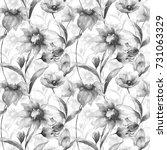 seamless pattern with original... | Shutterstock . vector #731063329