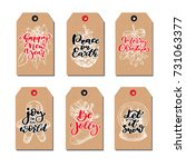 christmas vintage gift tags set ...   Shutterstock .eps vector #731063377