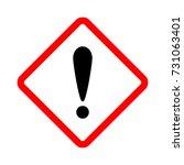 warning danger sign. vector... | Shutterstock .eps vector #731063401