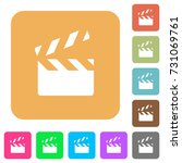 clapperboard flat icons on... | Shutterstock .eps vector #731069761