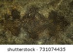 old celtic pattern texture on... | Shutterstock . vector #731074435