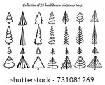 a set of hand drawn doodle... | Shutterstock .eps vector #731081269