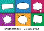 retro comic empty speech... | Shutterstock .eps vector #731081965