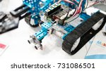 electronic robots close up... | Shutterstock . vector #731086501