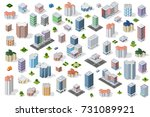 set of town district of the... | Shutterstock .eps vector #731089921