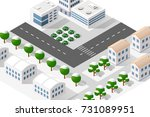 town district of the city in... | Shutterstock .eps vector #731089951